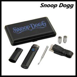 Wholesale Snoop Dogg SD G17 Vaporizer Pen Micro Dry Herb Wax Ecigarette mAH Express Starter Kits G Vaporizer Slim Metal Case In Black Blue Colors