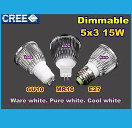 Promotion point de navire Le CREE de puissance élevée d'expédition de DHL a conduit la lampe 9W 12W 15W Dimmable GU10 MR16 E27 E14 GU5.3 B22 a conduit l'éclairage de downlight d'ampoule de projecteur de lumière de point