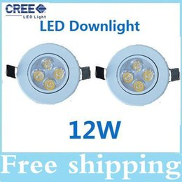 High Power 12W led ceiling lights Warm Pure cool white led downlights bulb lamps CE ROHS