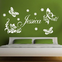 custom-made butterfly Personalized Name Vinyl Wall Stickers Art for Girls Nursery Room
