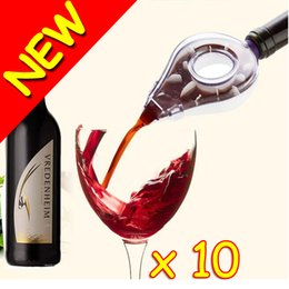 Wholesale New Novelty With Retail Box Homebrew Wine Aerator Bottle Topper Pourer Aerating Decanter Pour Filter