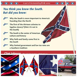 Wholesale 3x5FT American Confederate Flag Rebel Flag Civil War Flag Southern battle flag