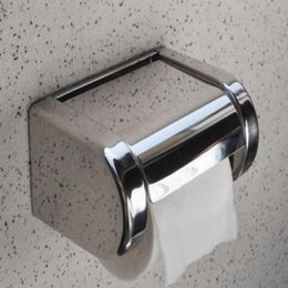 Free Shipping Wholesale And Retail Wall Mounted Bath Chrome Stainless Steel Toilet Paper Holder Roll Tissue Box