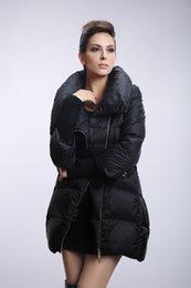 Wholesale-Down Jacket Women Casual Winter Jacket Women 2015 Winter Coat Women Asymmetrical Zipper White Duck Down Coat Frozen Parkas H041