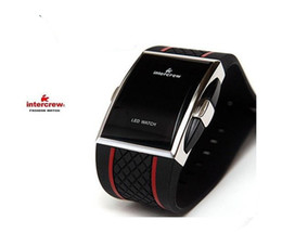 Wholesale Men s Sports Watches Square LED Digital Watch Male Electronic Wristwatches Mens Red Light Men Relogios Wristwatches relojes