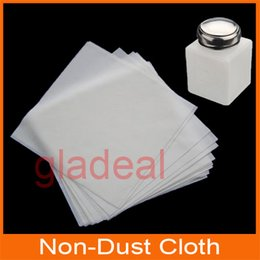 Wholesale 2 Bags Non Dust Cloth Clean Wiper With Alcohol Bottle for Laptop Phone LCD PCB Electronic