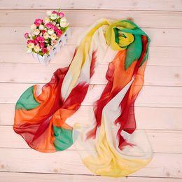 Wholesale New Geometric Symphony pattern chiffon long silk scarves cm DHL X110 Sales Paisley scarf