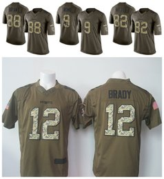 Wholesale Cowboys Dez Bryant Jason Witten Tony Romo Green Salute To Service Limited Jersey Stitched on Number and Name
