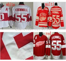 HOT Sale Men's 55 Niklas Kronwall Hockey Jersey Red White Stitched 2014 Winter Classic Jerseys Wholesale Discount Jersey