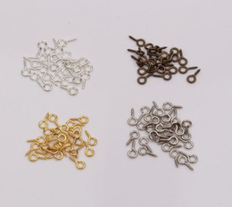 Wholesale Hot New Screw Eye Bail Top Drilled x9mm Tibetan Silver Gold Silver Antiqued Bronze DIY Jewelry
