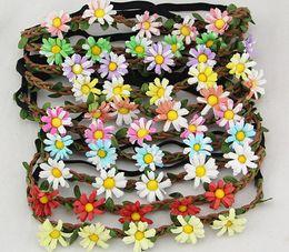 Women Summer Beach Bohemian Flower Headband Festival Wedding Bride Floral Garland Hair Band Headwear Hair Accessories