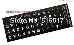 Wholesale-White PVC Plastic US langue layout keyboard key Sitckers