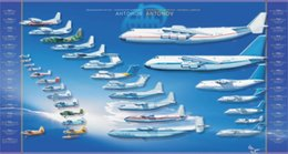 Wholesale planes aircraft military aircraft technology antonov blue background infographics x36 inch art silk poster Wall Decor