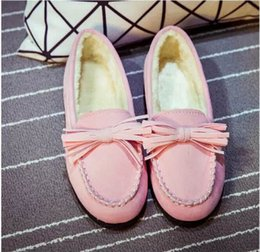 Wholesale HOT Add wool doug shoes in winter Han edition shoes grinding flat heat preservation cotton shoes pregnant women shoes