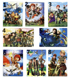 70pcs pack How to Train Your Dragon Puzzles 8 Style For Choice Characters Pattern Children Education Games Toys For Kids Gifts H0346a