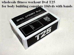 Wholesale T25 Alpha Beta Dvds With Resistance Band Dvds Dvds Speed Fitness Videos Brand Exercise Fitness Dvds DHL
