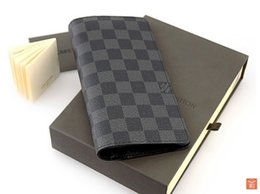 Wholesale NEW MEN FASHION LEATHER BLACK MOBILE PHONE WALLET