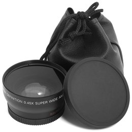 Wholesale 0 x mm Super Wide Angle Macro Lenses Camera Lens for Nikon mm mm mm Canon Sony Pentax MM DSLR Camera