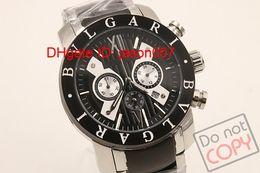 Luxury Brand New Design Silver Stainless Steel Fashion Men's Quartz Wrist watches Chrono Stopwatch Date Casual Mens Chronograph Sport Watch
