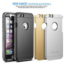"""Plaque d'écran en Ligne-Nouveau Trent Trentium robuste de protection durable pour iPhone 6s Case 4.7 """"écran noir Argent plaques d'or DHL gratuites"""