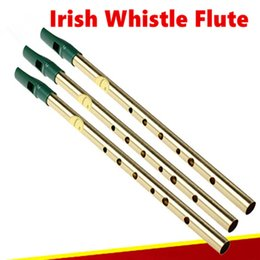 Wholesale Irish Whistle Flute Feadog D Key Tin Whistle Irish Penny Whistle Holes Feadan Whistle Clarinet Flute Flauta Musical Instrument