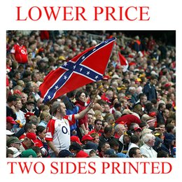 Wholesale Rebel Flag Confederate States Civil War Southern South Battle Dixie Flag X FT National Polyester cm Free DHL Factory Price IN STOCK
