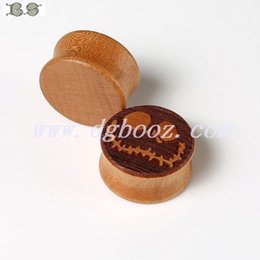 Hot sale 2015 new fashion Free shipping bamboo wood custom ear plugs flesh tunnels guages piercing Body Jewelry size 12-28mm FK-807