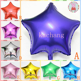 Wholesale Bolloon inch star shape Helium foil Balloons Anniversary wedding decoration party supplies Classic Toys air globos