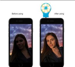 The Latest RK07 Built-in 8 led lights iblazr LED FLASH for Camera Mobile phone support selfie stick portable LED Retina Flash Light