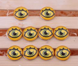 JACK88 Hot Sale 30 pcs lot DIY 18mm Yellow Eyes Ginger Glass Snap Buttons Fit Snap Button Bracelet M593