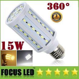 Garantie 3 Ans + E26 E27 E14, GU10 B22 SMD Led Ampoules Lumière de 15W à 360 Degrés de l'Angle de Maïs Led Lampe Chaud/Blanc Froid AC 110-240V + EC ROHS UL CSA e27 smd ce for sale à partir de e27 ce smd fournisseurs