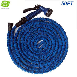 Wholesale 2014 Hot Selling FT Magic Hose With Spray Gun Expandable Flexible Water Pipe Garden Irrigation Hose Car USA And EU Stantard dandys