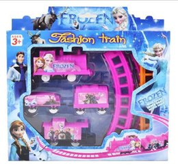 Wholesale 2015 Children Cartoon Froze Print Track Train Set Kids Girls Princess Queen Pink Railway Sets Trains For Ages Kid Baby Toys Toy D3674