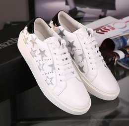 new! U450 2 COLORS GENUINE LEATHER STAR TIED SNEAKER SHOES