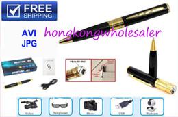 Mini-libre caméra cachée à vendre-Caméra cachée Spy Pen - 1280 * 960 HD avec TF carte Socket Super Mini DV BPR6 w caméras cachées microphone / Livraison gratuite