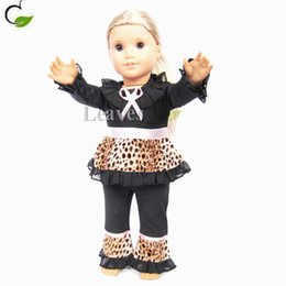 Wholesale Handmade American Girl Doll clothes and accessories Black leopard divided skirts suits Fit inch American Girl dolls