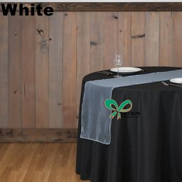 White Color Organza Table Runner For Table Cloth \ Wedding Table Runner