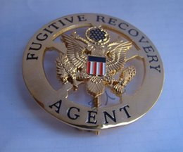 Wholesale The fugitive American Recovery badge big metal badge waist hung chapter copper Badge