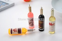 Wholesale Key Ring Mobiles - Wholesale-Free Shipping fashion phone charm accessories wine bottle pendant Physical rings for mobile phone chain key chains