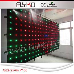 Wholesale P18 x4m lights air flashing led video curtain