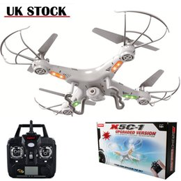 Wholesale UK Stock syma X5C Channel GHz RC Helicopter Explorers Quad Copter with m HD Camera Upgraded Version Remote Controller