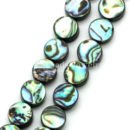 Wholesale Abalone Shell Loose Beads Round Peacock Blue mm Dia cm long Approx B23428