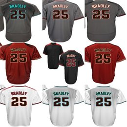Factory Outlet Mens Womens Kids Toddlers Arizona 25 Archie Bradley Black White Grey Red Stitched Embroidery Logos Baseball Jerseys