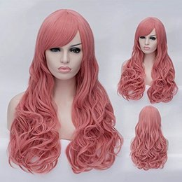 free shipping****Pink Long 70cm Sexy Women's Charming Curly Cosplay Hair Wig
