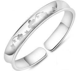 Silver Plum Flower Bangles New Fine Jewelry Women Emotional Bracelet Bangles 30% Sterling Silver White Gold Plating Wedding Bangles