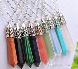 Necklace Pendants Healing Crystals Rose Quartz Crystal Divination Reiki Healing Bead Pendulum Pendants Necklaces