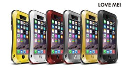 Original Love mei Extreme Waterproof 4proof Case + Gorilla Glass case For Apple iphone 6 4.7 plus 5.5 inch Metal case