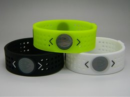 Wholesale Silicone Bands Energy Power Basketball Wristbands Ion Hologram Bracelets Only Bands Or Come With Retail Boxes