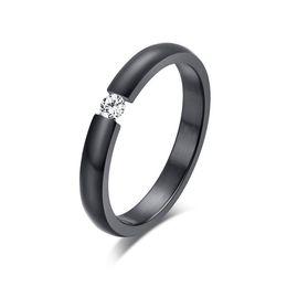 ORSA High Quality Titanium Steel Rings Quality Austrian Zircon Wedding Engagement Rings Free Shipping OTR48