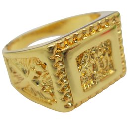 Wholesale 2015 Best Gift K Gold Plated Men Jewelry Arab Rings Gold Plated Brand Middle East Jewelry Quran Ring For Men Christmas Gifts